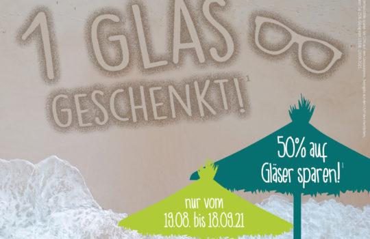 1 GLAS GESCHENKT
