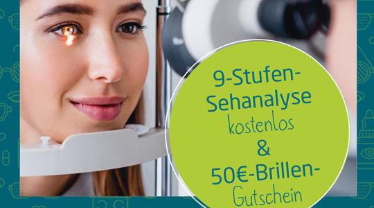 Kostenlose Sehanalyse + 50€* Gutschein
